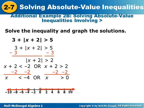 inequality and the 1 objectives solve compound inequalities in one variable involving absolute value expressions