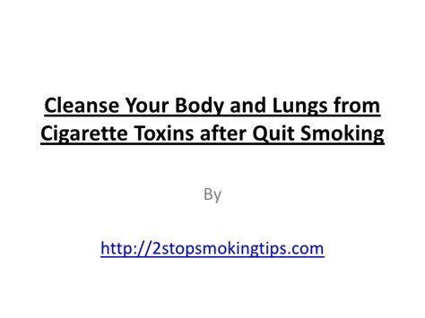 Lung Detox After Quitting by Cleanse Your And Lungs From Toxins