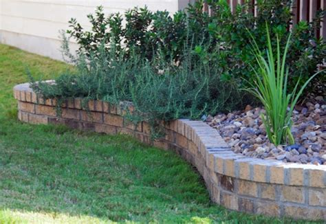 brick flower bed brick flower bed outdoor living pinterest flower