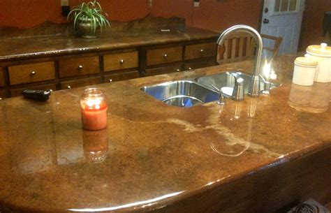 concrete bar top cost beautiful concrete countertop kitchen update pinterest