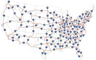 map us highways system united states of america hitchwiki the hitchhiker s