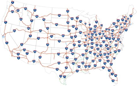 map of us states with interstates us map with major interstates highways images