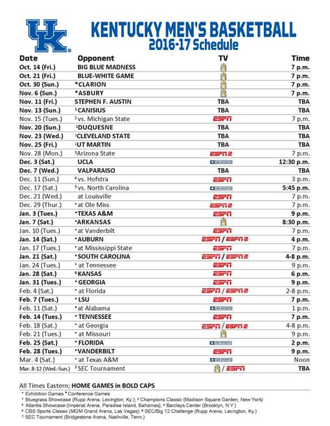 Uk Basketball Schedule March | uk basketball schedule released uk fans all day