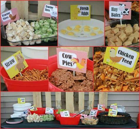 farm themed birthday food 25 best ideas about farm party foods on pinterest