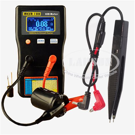 capacitor esr test circuit auto range in circuit esr capacitor meter tester up to 0 001 to 100r mesr100 us ebay