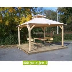 tonnelle de jardin tonnelle bois autoportante avec bache