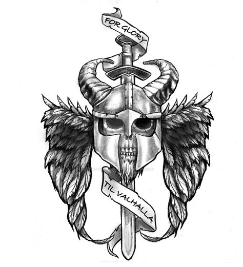 valhalla tattoo designs valhalla by artfullycreative on deviantart