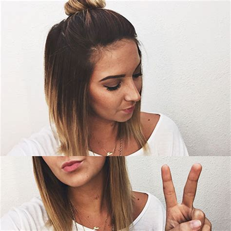 short hair on top and long hair on bottom look pictures 40 super balayage short hair short hairstyles