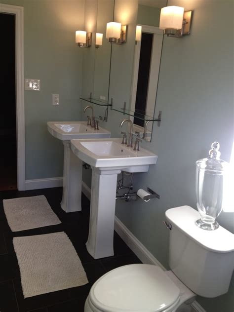 master bathroom sinks master bath with twin pedestal sinks yelp