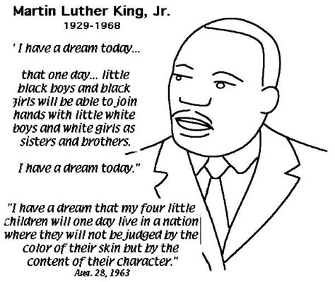 martin luther king coloring pages martin luther king jr free coloring pages printable