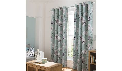 floral duck egg curtains george home duck egg floral curtains home garden
