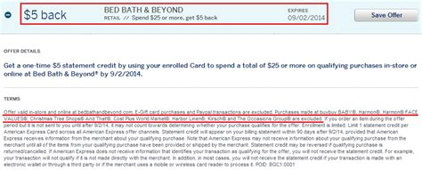bed bath and beyond credit card login amex offers save bed bath beyond amex offer