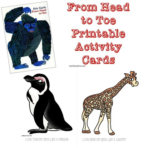My To Toe Book from to toe printable activity cards teach beside me