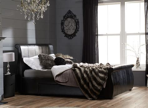 Dreams Bedroom Furniture Uk Manhattan Black Bonded Leather Bed Frame Dreams