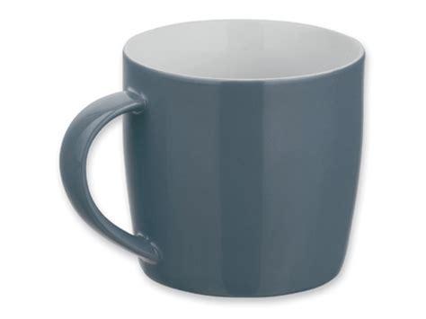 grau graue becher tassen mugs fuer firmen handel gewerbe