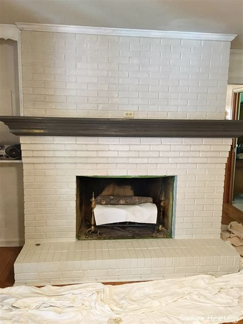 Update Fireplace Brick by How To Paint A Brick Fireplace