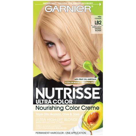 garnier hair colour models garnier lb2 ultra light natural blonde ultra color
