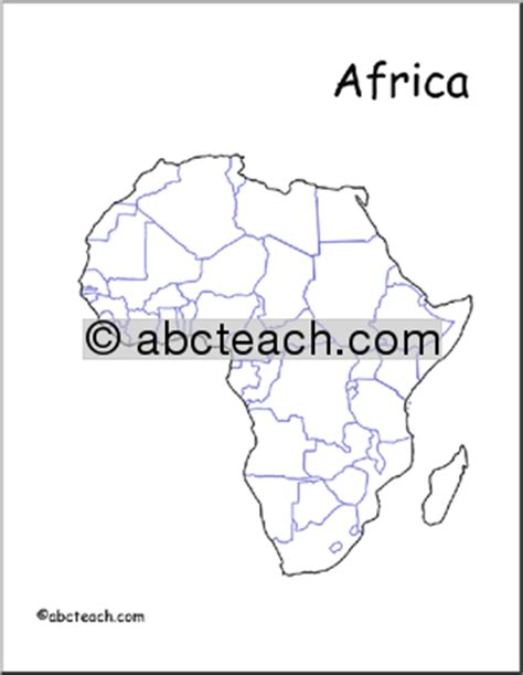 africa map no labels map africa unlabeled countries abcteach