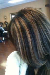 what color highlights for black hair base with caramel highlights my work