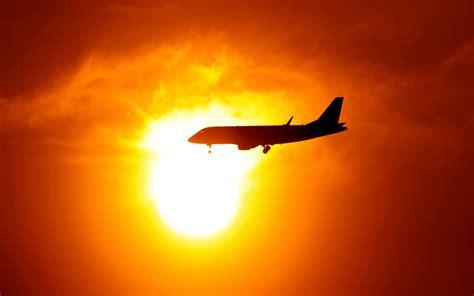 photography sunset clouds airplane aircraft sun