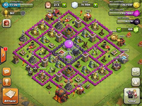 editing layout in clash of clans freeappsking clash of clan village level 61 clash of