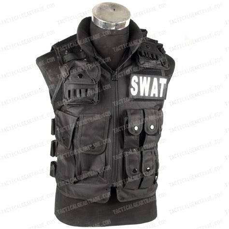 Vest Rompi Airsoft Swat swat airsoft wargame combat tactical assault vest bk for 24 14 tacticalgeartrade