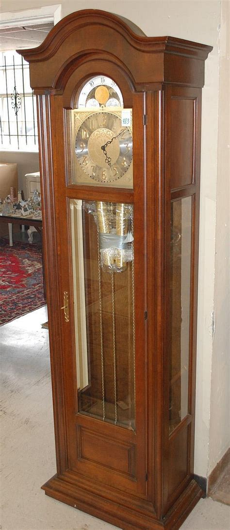 tall case grandfather floor clock howard miller