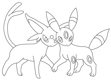 pokemon coloring pages espeon pokemon umbreon coloring pages az coloring pages
