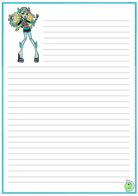 printable monster writing paper monster high handwriting paper dinokids org