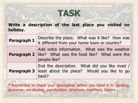 Description Of A Place Essay by How Do I Write A Descriptive Essay About A Place Essays About Service