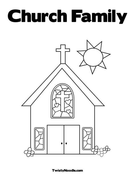 Church Coloring Pages Coloring Home Coloring Pages For Children S Church