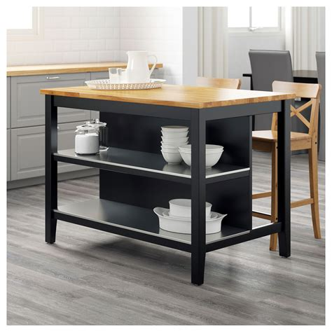kitchen island ikea stenstorp kitchen island black brown oak 126x79 cm ikea