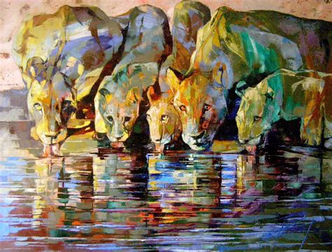 Painting Palette africa inspired palette knife paintings by radka kirby