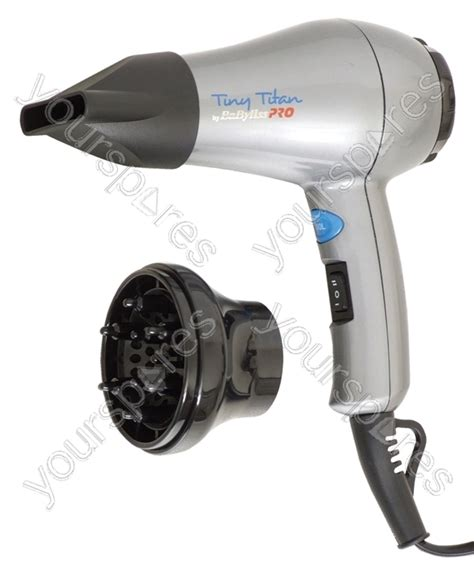 babyliss bab052u tiny titan 1000w travel hair dryer with diffuser t361da by babyliss