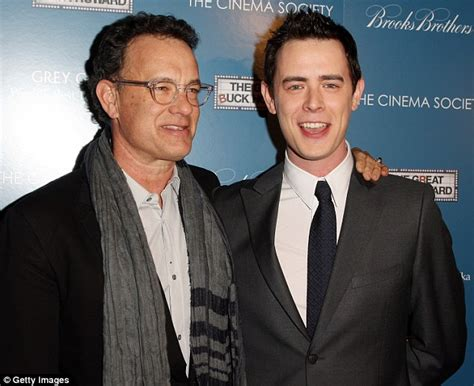 Tom Hanks' son Colin gives his daughter Olivia a lift atop