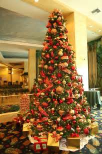 Red and gold christmas tree red and gold 16ft christmas