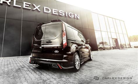 Custom Tunik ford transit connect gets tuning kit from carlex