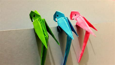 Origami Parot - free coloring pages how to make origami 3d parrot best