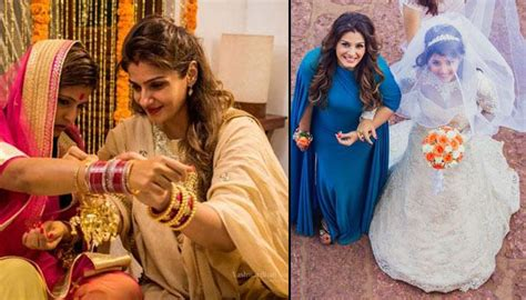 raveena tandon adopted daughters wedding inside pictures of raveena tandon s younger chaya
