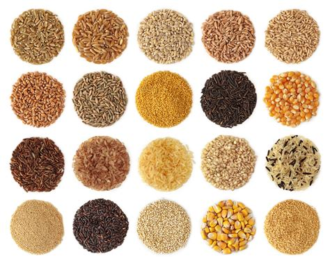 whole grains images with names healthy plate 5 carbs the the bad and the