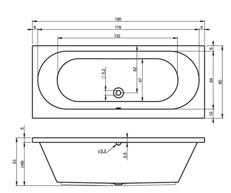 Bathtub Section Drawing