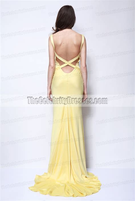 Will The Right Dress Make You Lose 10 Pounds Instantly by Kate Hudson Yellow Evening Prom Dress In How To Lose A