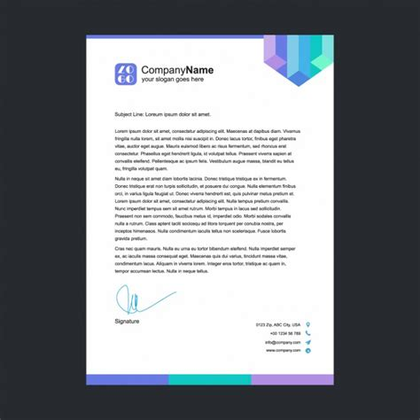 letterhead templates psd vector multicolor letterhead template vector free