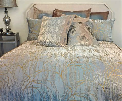 kevin o brien studio metallic petals white bedding