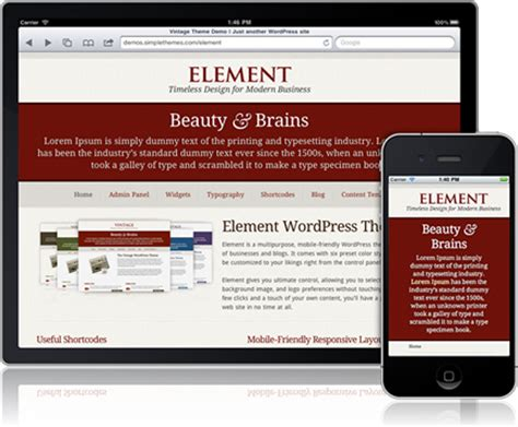 layout wordpress mobile mobile friendly responsive layout element wordpress theme