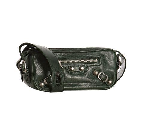 Balenciaga Leather Ring Box Bag by Balenciaga Green Lambskin Chic Small Box Bag In