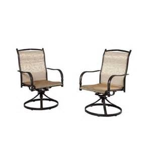 Hton Bay Swivel Patio Chairs Hton Bay Altamira Tropical Motion Patio Dining Chairs Set Of 2 Dy9976 Dat The Home Depot