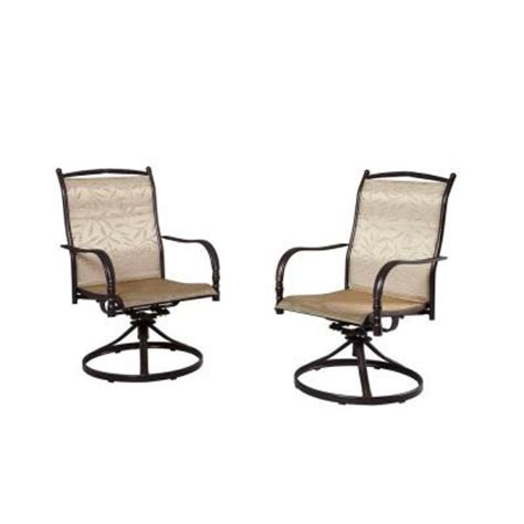 Hampton Bay Patio Chairs by Hampton Bay Altamira Tropical Motion Patio Dining Chairs