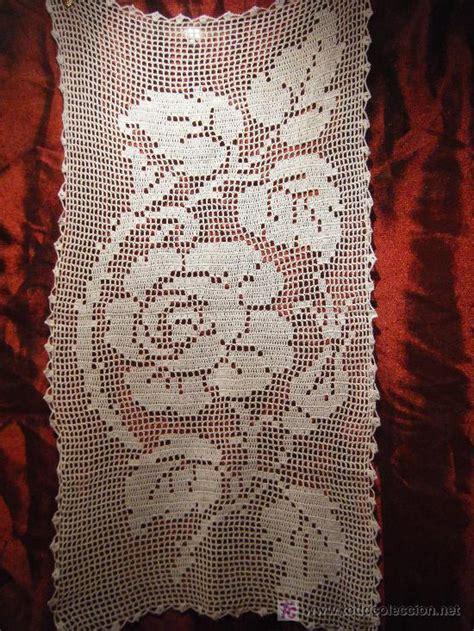 al camin camino de mesa en crochet blanco c530 comprar en