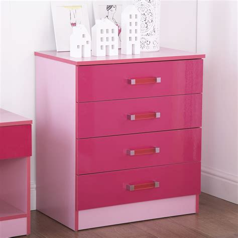 Cheap Pink Chest Of Drawers by Ottawa Two Tone Pink 4 Drawer Chest Discount Furnishings